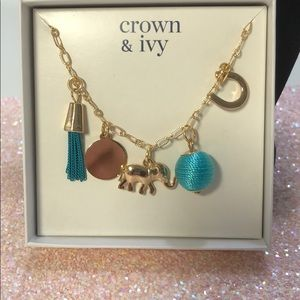 Crown & ivy necklace